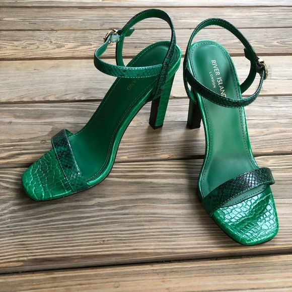 c3d3fb06e9 River Island Shoes | Croc Barely There Heel Sandals Nwt | Poshmark